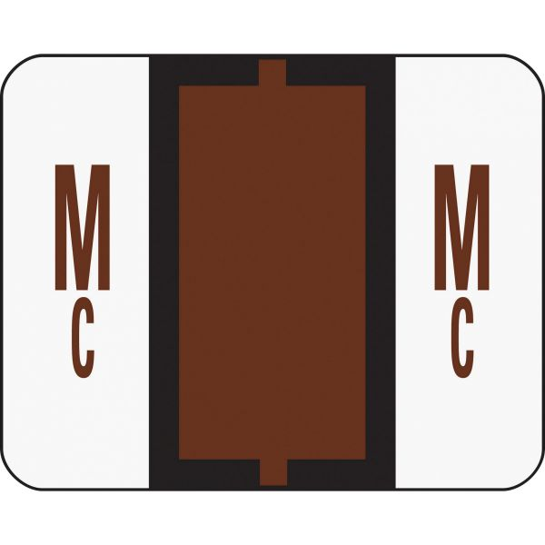 Smead BCCR Bar-Style Color-Coded Alphabetic Label - Mc