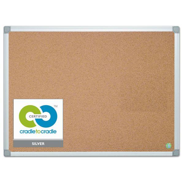 MasterVision Earth Cork Bulletin Board