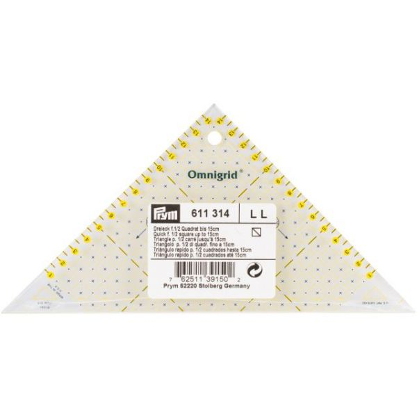 Omnigrid Metric Right Triangle Quilter's Ruler