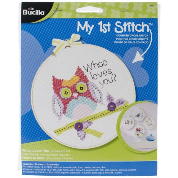 My 1st Stitch Whoo Loves You Mini Counted Cross Stitch Kit