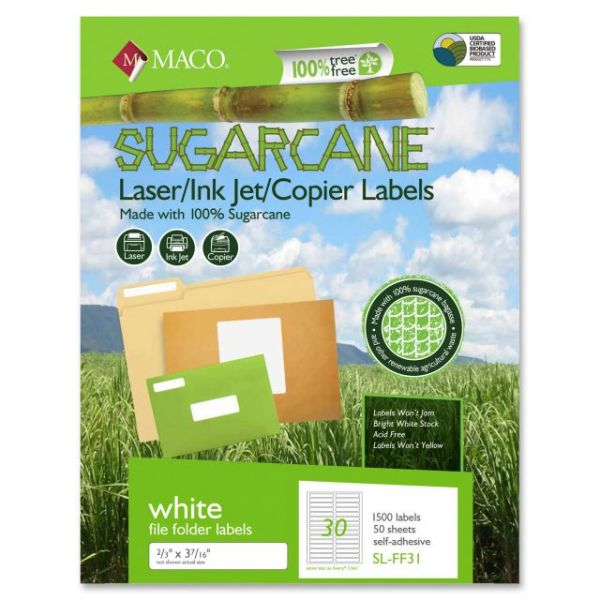 MACO Laser / Ink Jet File / Copier Sugarcane Labels