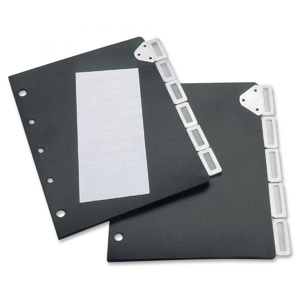 Tarifold, Inc. Index Divider Set For Catalog Rack, 5-Tab Set, Black