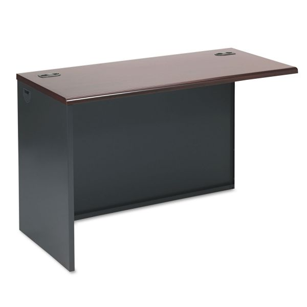 HON 38000 Series Return Shell, Left, 48w x 24d x 29-1/2h, Mahogany/Charcoal