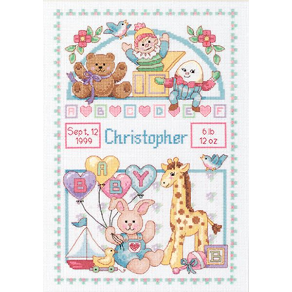 Birth Record For Baby Counted Cross Stitch Kit