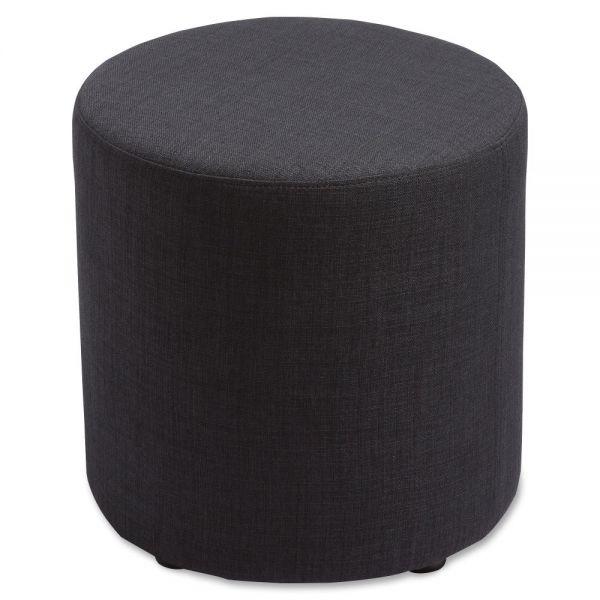 Lorell Fabric Cylinder Ottoman