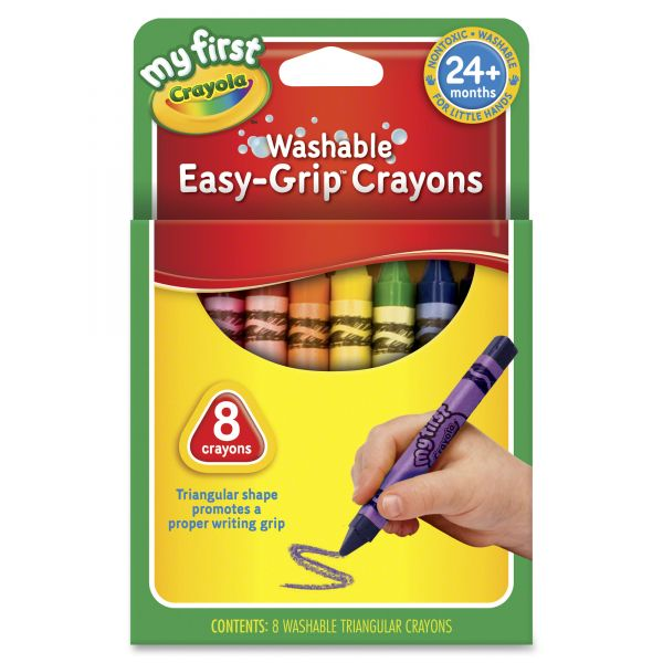 Crayola Washable Easy-Grip Crayons