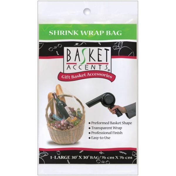 Basket Accents Large Shrink Wrap Bag