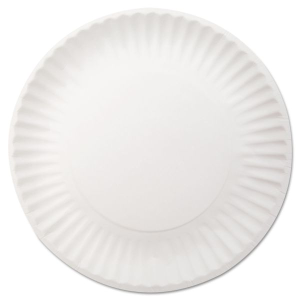 "Dixie White Paper Plates, 9"" dia, 250/Pack, 4 Packs/Carton"