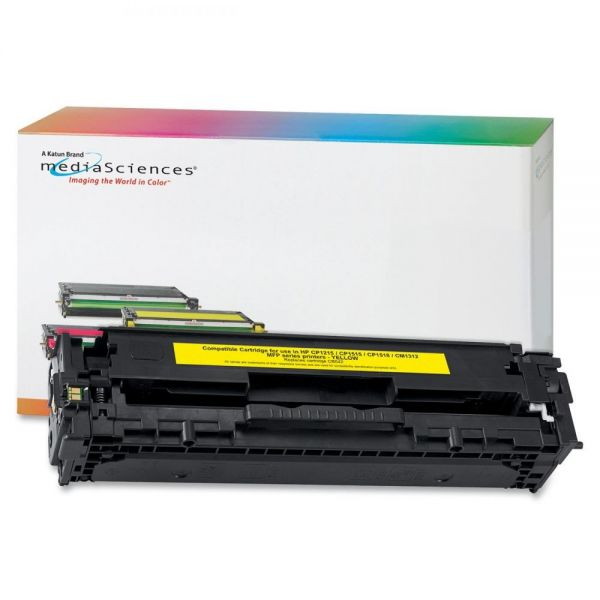 Media Sciences Remanufactured HP 128A Yellow Toner Cartridge
