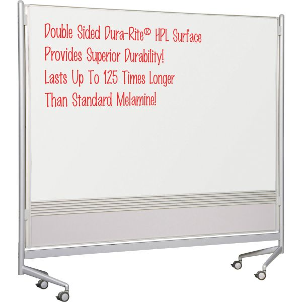 Balt Mobile Double-Sided Dry Erase Easel Partition