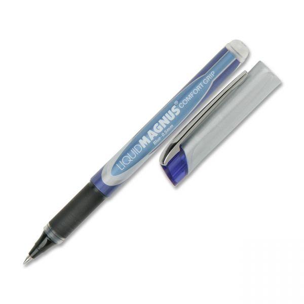 SKILCRAFT Liquid Magnus Comfort Grip Rollerball Pens