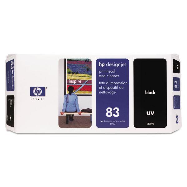 HP 83 (C4960A) UV Black Printhead and Cleaner
