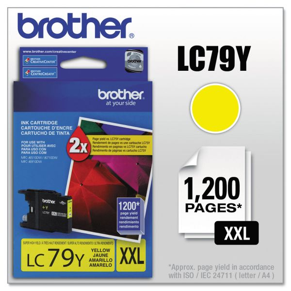Brother LC79Y Innobella Super High-Yield Ink, Yellow