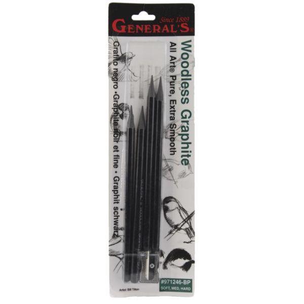 Woodless Graphite Pencils 4/Pkg