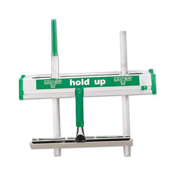 "Unger Hold Up Aluminum Tool Rack, 18"", Aluminum/Green"