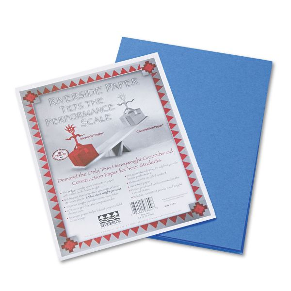 Riverside Groundwood Blue Construction Paper