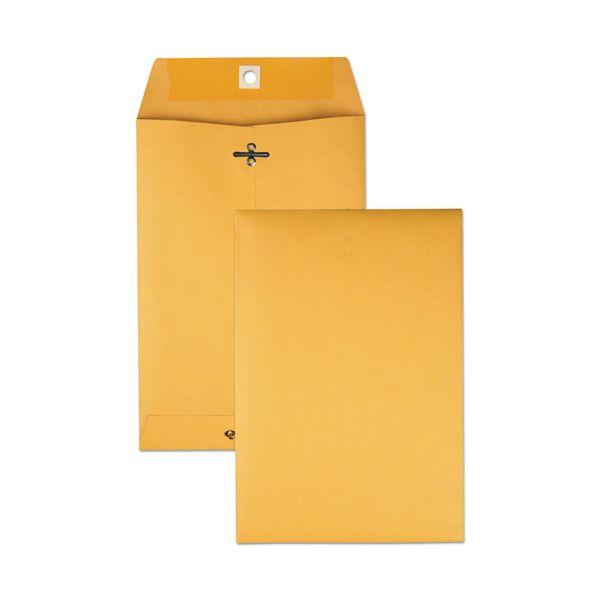 Quality Park Clasp Envelope, 6 1/2 x 9 1/2, 28lb, Brown Kraft, 100/Box