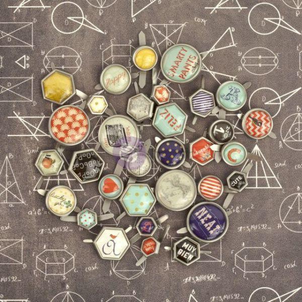 School Memories Decorative Metal Brads 32/Pkg