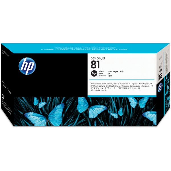 HP 81 Black Printhead & Cleaner (C4950A)