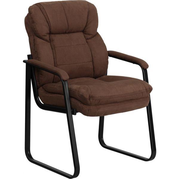 Flash Furniture Brown Microfiber Side Chair