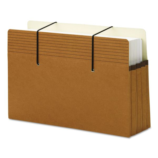 Smead 74228 Secure Redrope Expanding File Pockets with Easy Grips