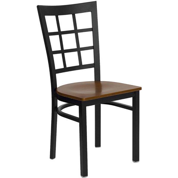 Flash Furniture Window Back Metal Restaurant Chair