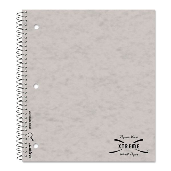 National Subject Wirebound Notebook, College/Margin Rule, 11 x 8 7/8, White, 80 Sheets