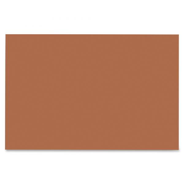 SunWorks Construction Paper, 58 lbs., 12 x 18, Brown, 50 Sheets/Pack
