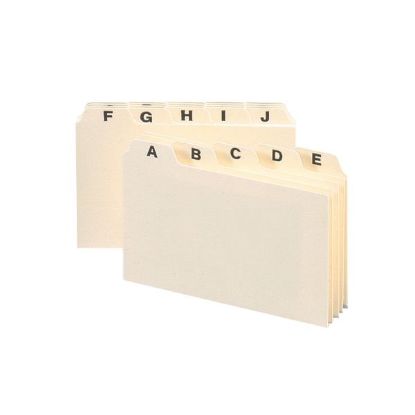 Smead 56076 Manila Heavyweight Card Guides with A-Z Tabs