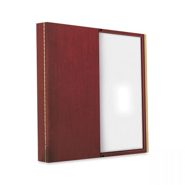Tiffany Industries Dry Erase Magnetic Presentation Board, Cloth/Steel, 48 x 48, Cherry Frame