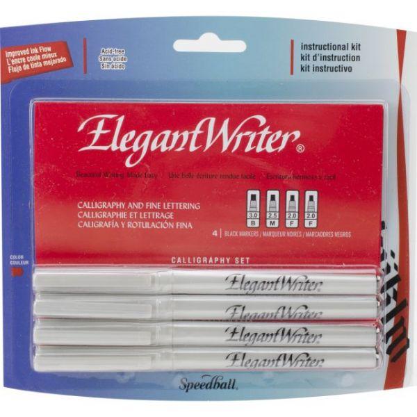 Speedball Elegant Writer Calligraphy Markers 4/Pkg