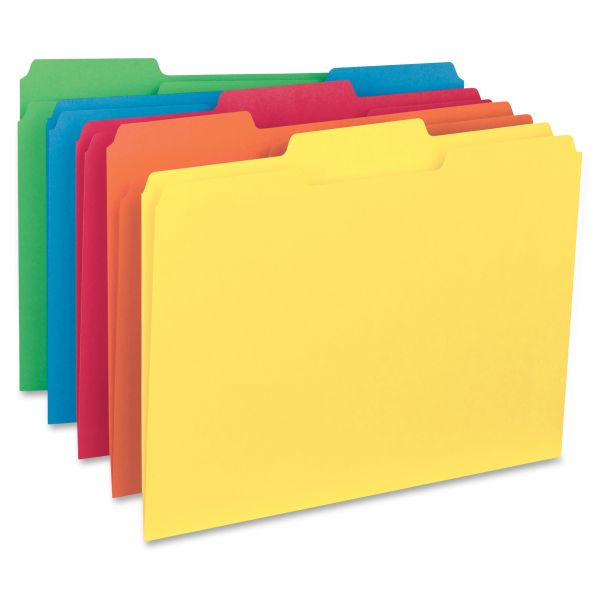 Smead Interior File Folders, 1/3 Cut Top Tab, Letter, Assorted, 100/Box