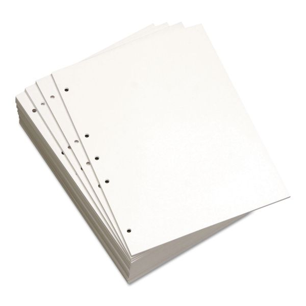 Domtar Custom Cut 19-Hole Punched White Copy Paper