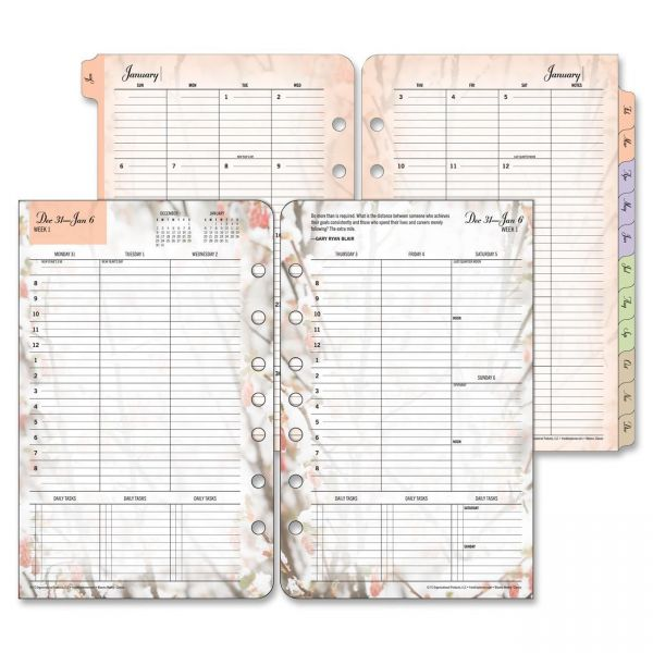 Franklin Covey Blooms Dated Weekly/Monthly Planner Refill