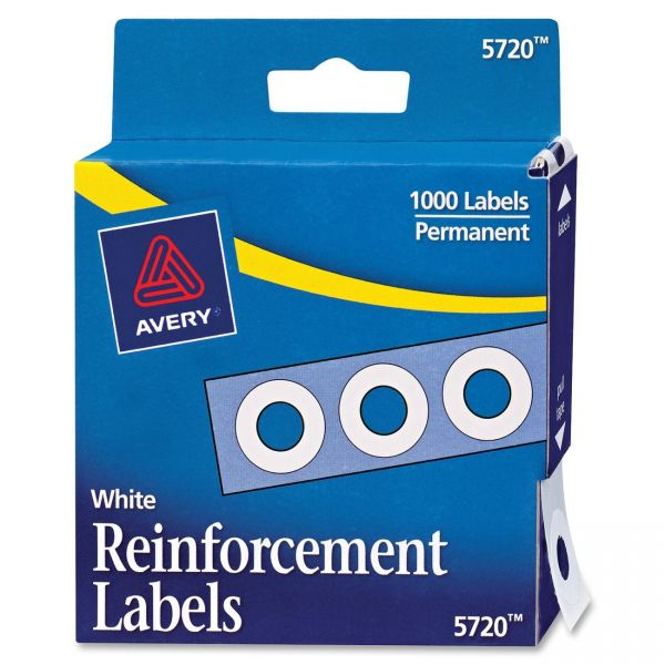 Avery White Self-Adhesive Reinforcement Labels
