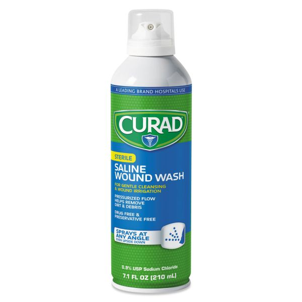 Curad Sterile Saline Wound Wash, 7.1 oz Bottle