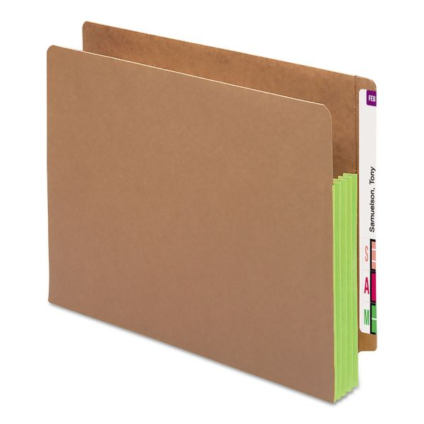 Smead TUFF Pocket Expanding End Tab File Pockets with Colored Gussets