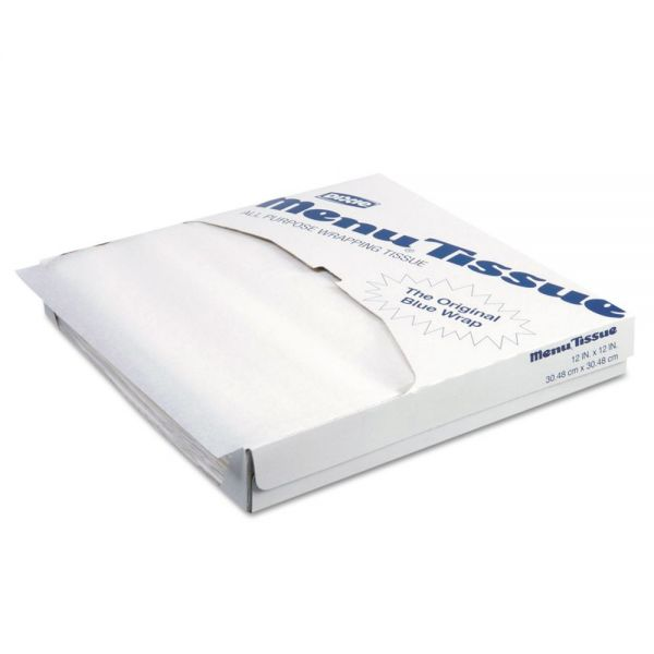 Dixie Menu Tissue Untreated Paper Sheets, 12 x 12, White, 1000/Pack, 10/Carton