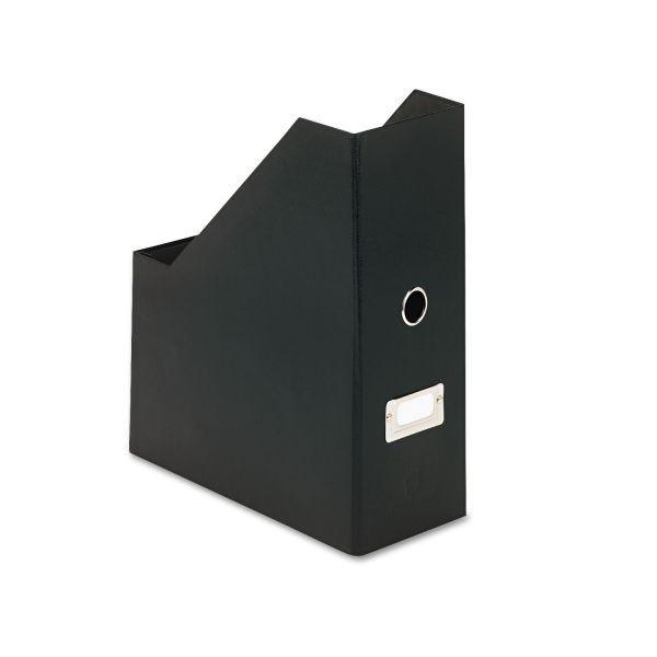 Snap-N-Store Heavy-Duty Fiberboard Magazine File with PVC Laminate, 4 1/2 x 11 x 13, Black