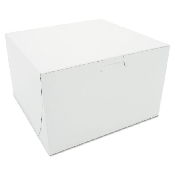 SCT Tuck-Top Bakery Boxes, Paperboard, White, 8 x 8 x 5