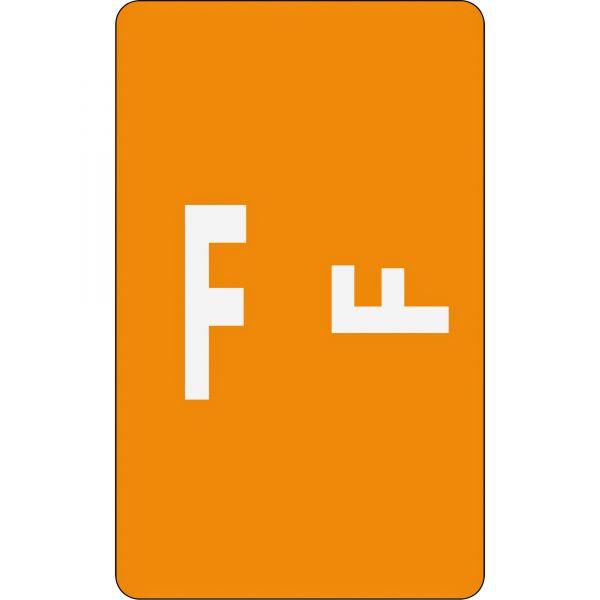Smead AlphaZ ACCS Color-Coded Alphabetic Label - F