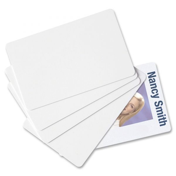 SICURIX Blank ID Card, 2 1/8 x 3 3/8, White, 100/Pack