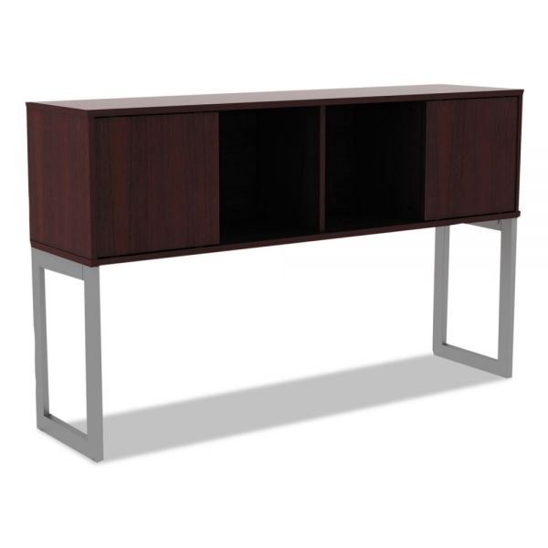 Alera Alera Open Office Desk Series Hutch, 60w x 15d x 36 1/2h, Mahogany