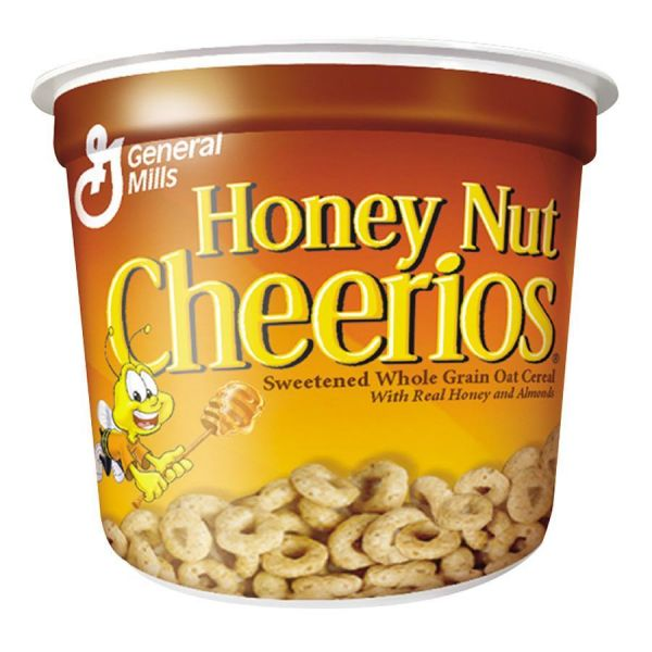 General Mills Honey Nut Cheerios Cereal, Single-Serve 1.8oz Cup, 6/Pack