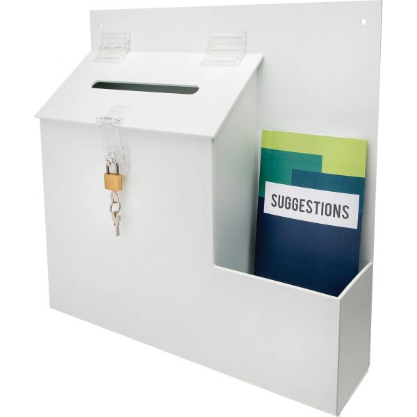 deflecto Suggestion Box with Lock