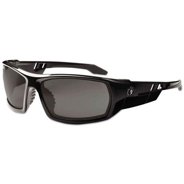 ergodyne Skullerz Odin Safety Glasses, Black Frame/Smoke Lens, Nylon/Polycarb