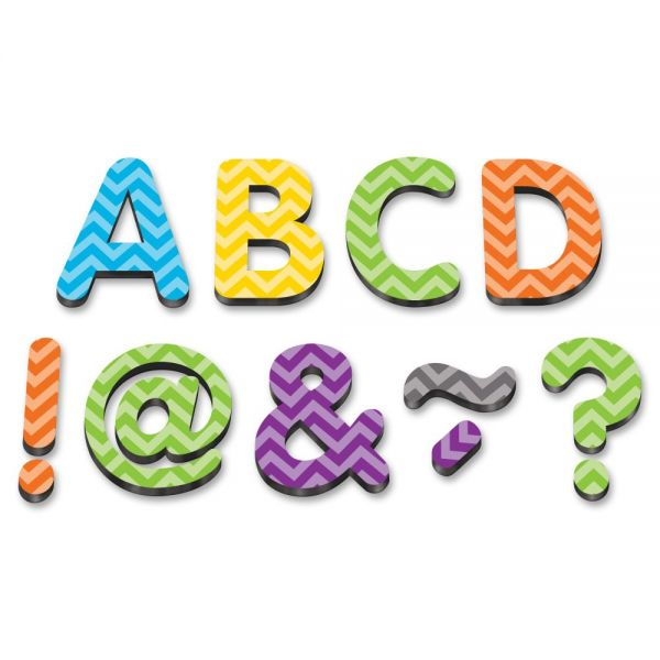 Teacher Created Resources Chevron Classic Magnetic Letters