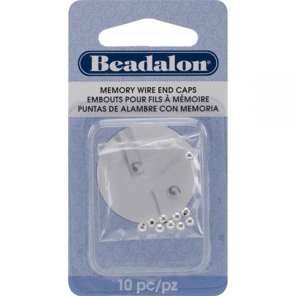 Beadalon Memory Wire End Caps 3mm 10/Pkg
