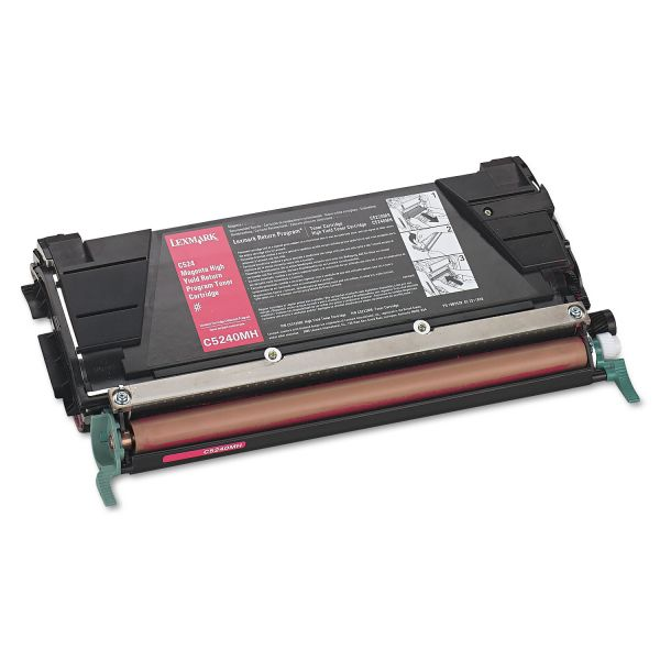 Lexmark C5240MH Magenta High Yield Return Program Toner Cartridge