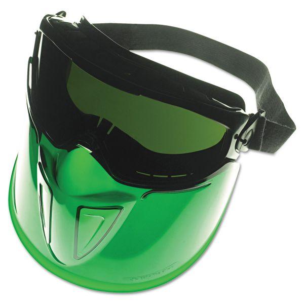 Jackson Safety* V90 Series Face Shield, Black Frame, Dark Green Lens, Anti-Fog